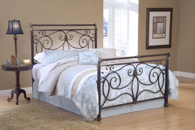 Brass Headboard Queen Wrought Iron Pic 00