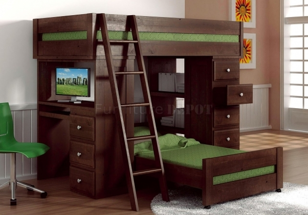 Bunk Bed With Desk Full Loft Bed Ikea Pics 86