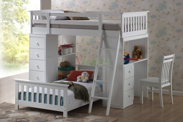 Bunk Bed With Desk Huckleberry Loft Bunk Bed For Kids With Storage  Image 22