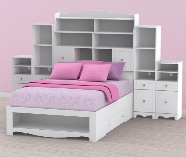 Headboards For Full Size Beds For Kids Bedroom Full Size Bookcase Headboard Storage Photo 32