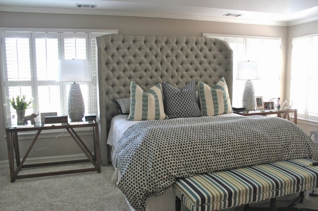 King Upholstered Headboard Tuffed Designs Photo 25