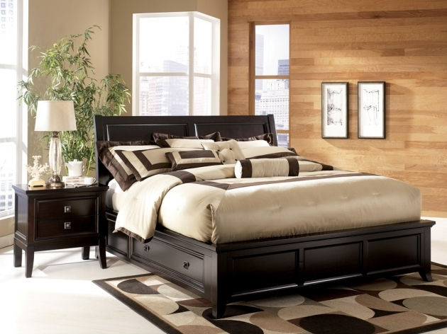 Platform Bed With Storage King Size Modern Wood Picture 08