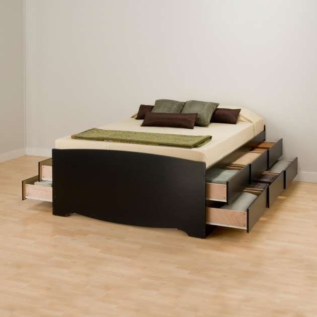 Platform Bed With Storage Prepac Basic Photos 83