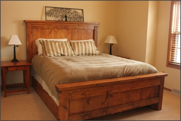 Queen Size Bed Frame Bedroom Furniture Platform Bed Storage Wooden With Tall Wooden Headboard Pics 04