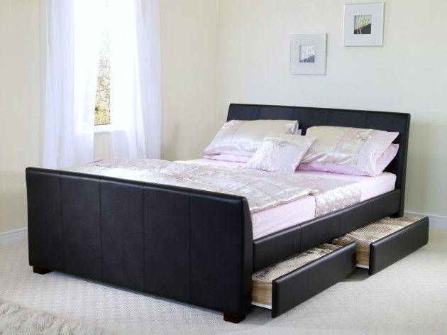 Queen Size Bed Frame With Drawers For Bedroom Furniture Ideas Black Leather Bed Frames Photo 80