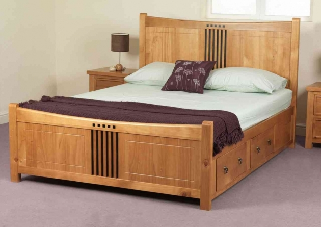 Queen Size Bed Frame Wooden With Drawers And Nightstand For Bedroom Furniture Ideas Pic 92
