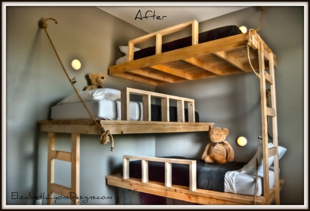 Triple Bunk Bed Of Small Spaces For Kids Room Ideas Photo 07