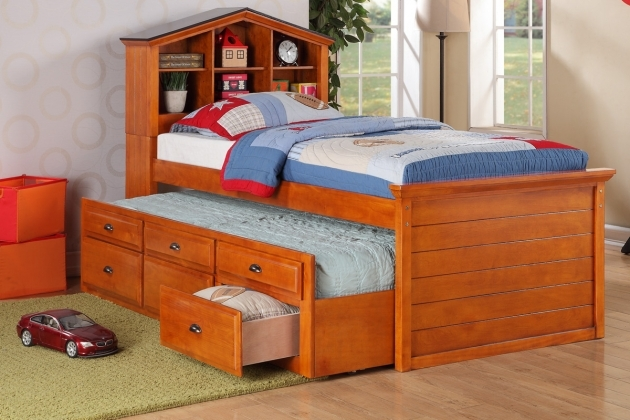 Twin Bed With Storage Minimalist Brown Teak Wood Drawers Russell Headboard Style Photo 90
