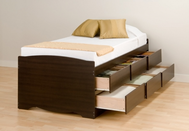 Twin Bed With Storage With 6 Drawers Extra Long Photos 82