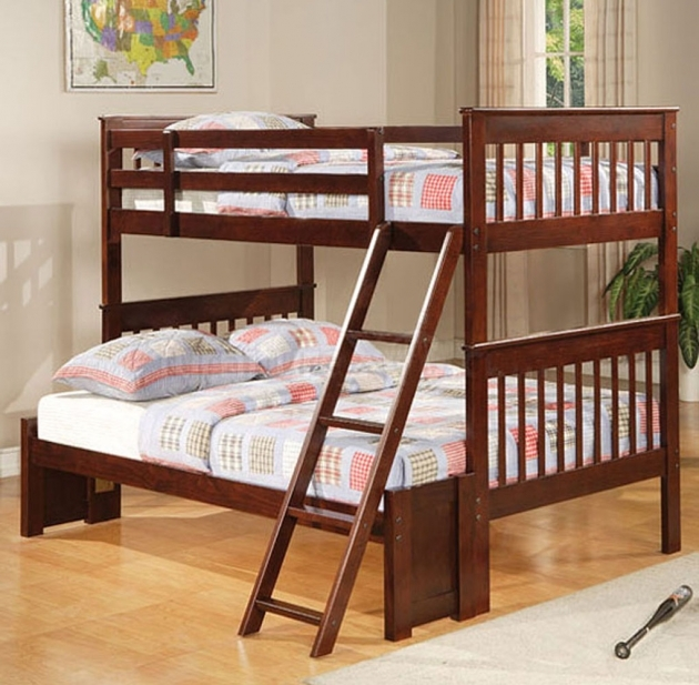 Twin Over Full Bunk Bed Coaster Cappuccino Images 27