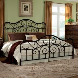 King Metal Bed Frame Headboard Footboard