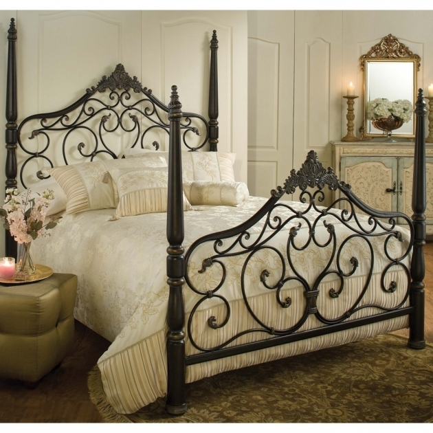 Black Rustic Metal Bed Frames Design Ideas Images 74