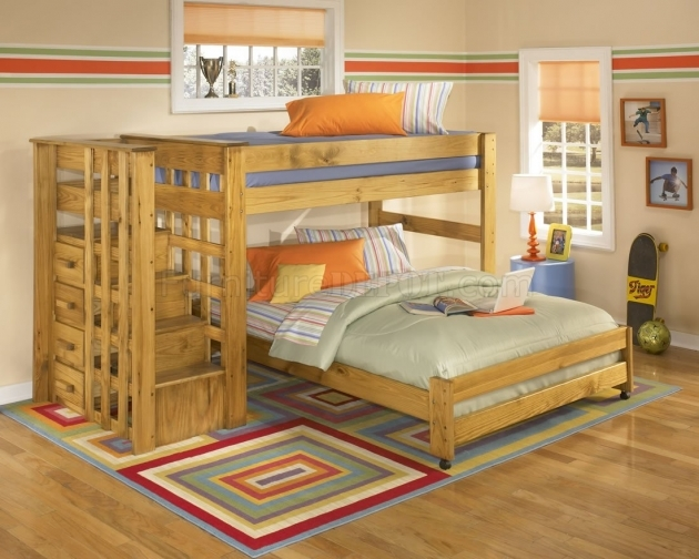 Brown Wooden Bunk Beds With Stairs And Slide Bedroom Pretty Ideas And Drawers Photos 90