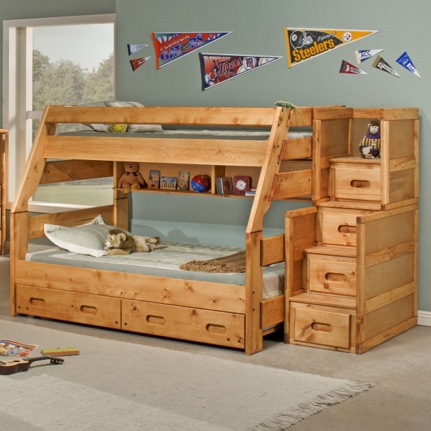Bunk Beds With Stairs, Drawers And Trundle Design Ideas Images 59
