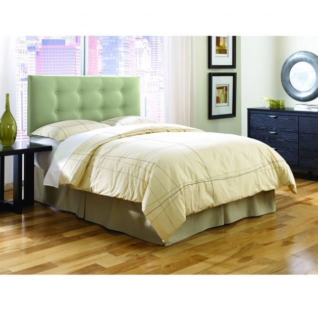 Chambery Sage Upholstered King Size Headboard Images 13