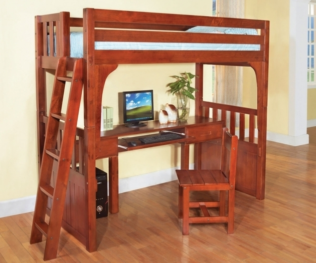Cheap BBunk Bed With Table Underneath Twin Bed Desk Combo Photo 76