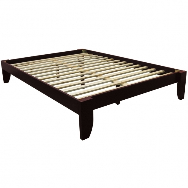 Cheap Platform Bed Frame Queen Size In Mahogany Wood Images 35