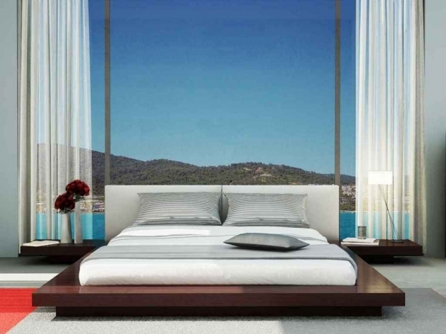 Contemporary King Size Asian Platform Bed Frames  Pictures 32