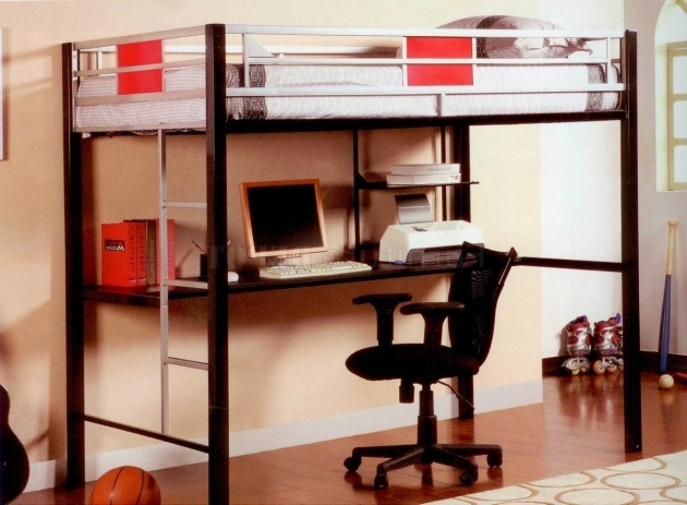 Cool Bunk Bed With Table Underneath Pictures 81