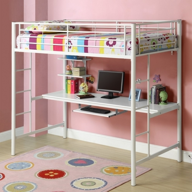 Cute Bunk Bed With Table Underneath Picture 44