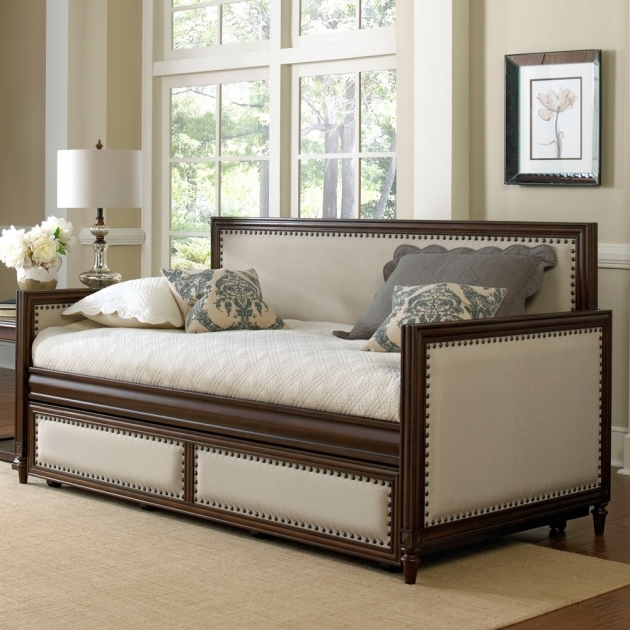 Daybed With Trundle Cream Espresso Fashion Bed Photos 87