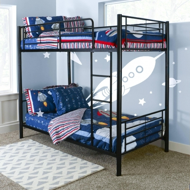 Dorel Twin Over Full Metal Bunk Bed Multiple Colors Small Kids Room Photo 78
