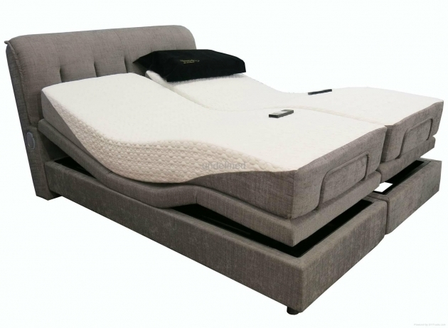 Double Grey Upholstered Platform Bed Frame With Twin Mattress AdjustableBest Mattress For Platform Bed Images 52