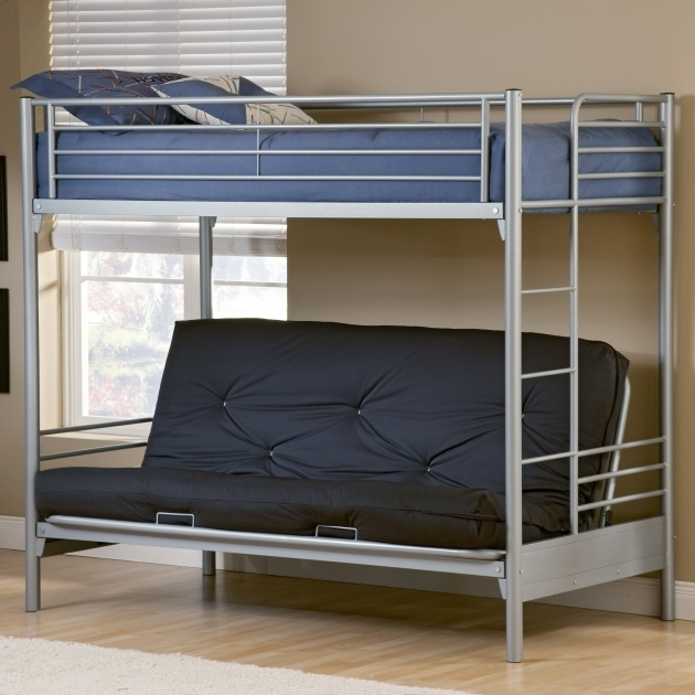 Duro Wesley Twin Over Futon Sofa Bunk Bed Silver Photo 47