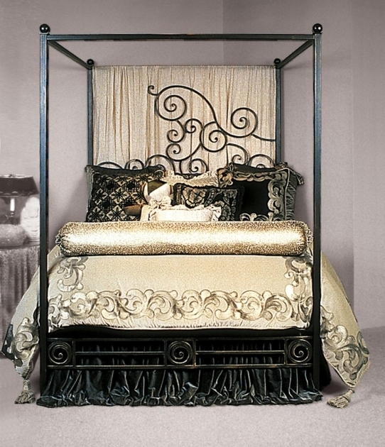 Elegant Black Rustic Metal Bed Frames Canopy Bed Frame Combine Photos 22