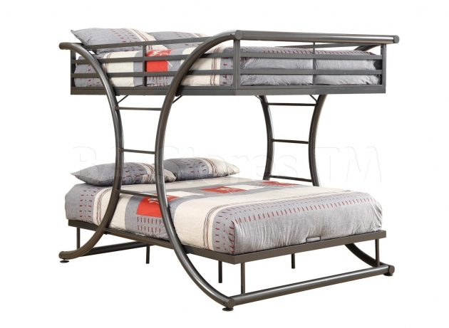 Full Over Full Bunk Beds Gun Metal Pictures 15