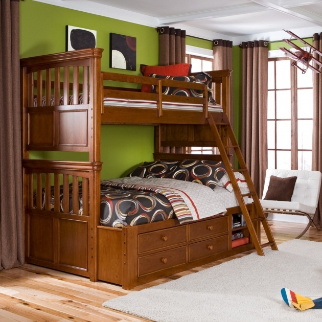 Full Over Full Bunk Beds With Stairs Design Ideas Photo 34