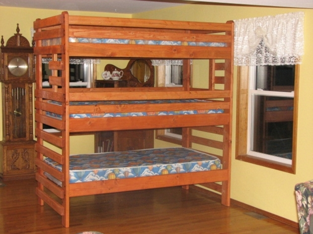Full Over Full Bunk Beds With Stairs  Photo 89