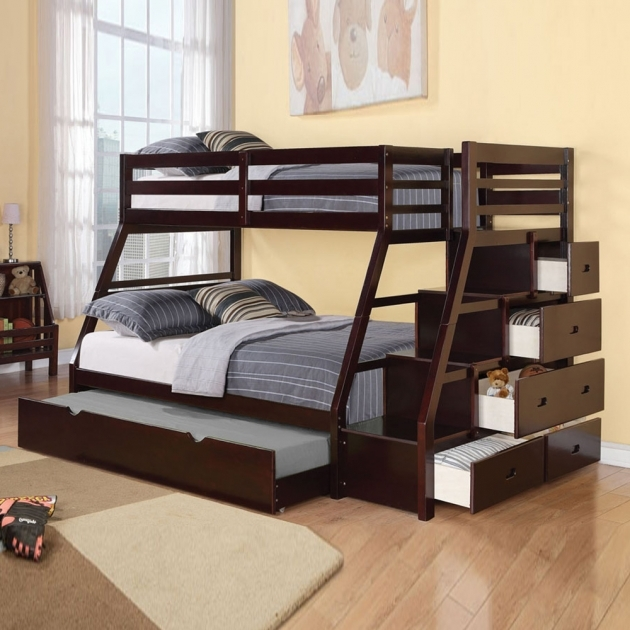 Full Over Full Bunk Beds With Stairs Pictures 04