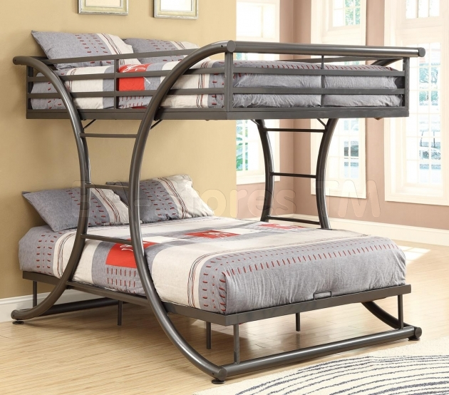 Full Size Bunk Beds Gun Metal Full Over Images 77