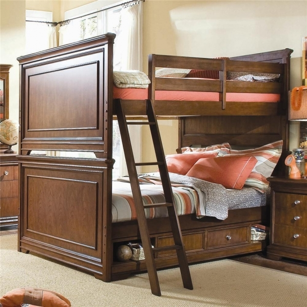 Full Size Bunk Beds With Ladder Bedding Ideas Pictures 46