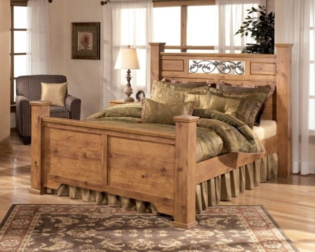 Full size headboard and footboard sets rustic solid wood for Full bed furniture sets