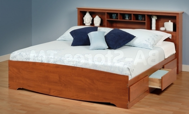 Full Size Headboard With Shelves And Storage Simple Queen Bed Made From Wood Photos 11