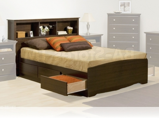 Full Size Headboard With Shelves Storage King Size Bed Image 73