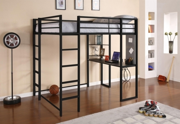 Full Size Metal Loft Bed With Desk Furniture Photo 76
