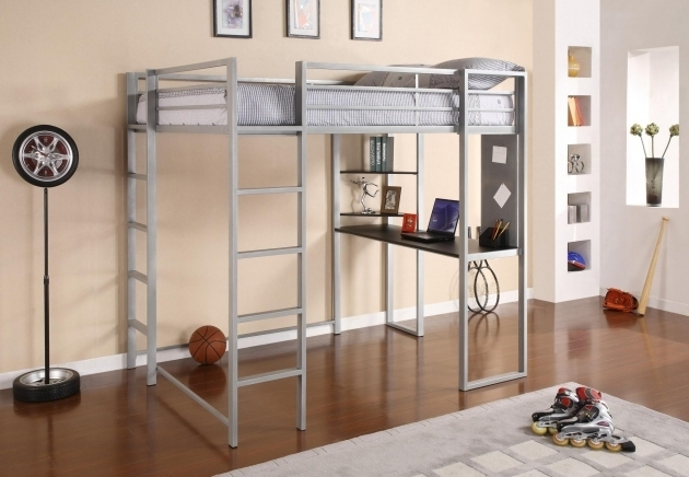 Full Size Metal Loft Bed With Desk Furniture Pictures 59