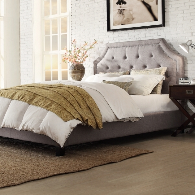 Grey Upholstered Platform Bed New Pictures 96