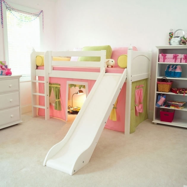 Low Ceiling Bunk Beds With Stairs And Desk And Slide Contemporary Medium For Kids Photo 91