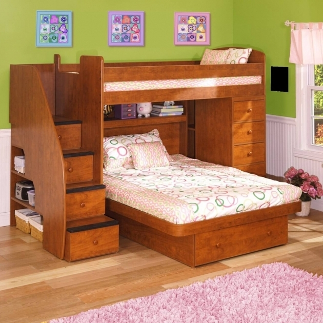 Low Ceiling Bunk Beds Wooden L Shaped Bunk Beds With Space Saving Features Photo 33