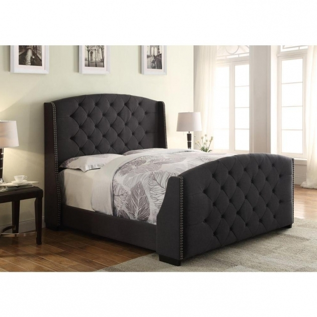 Upholstered headboard and footboard set bed headboards for King size footboard