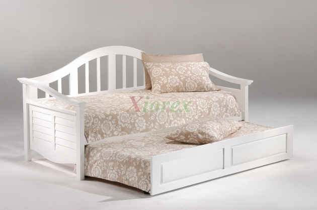 Seagull Twin Size Daybed With Trundle White Photo 46