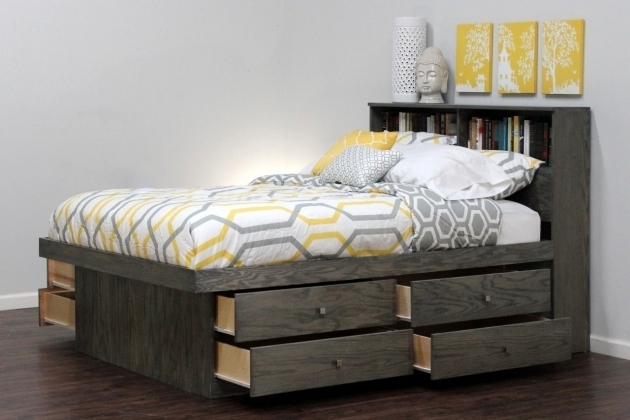 Storage Beds Full Size Headboard With Shelves Image 55