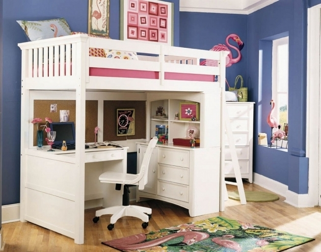 Trendy Loft Bed Desk Plans Bunk Bed With Table Underneath Pictures 41