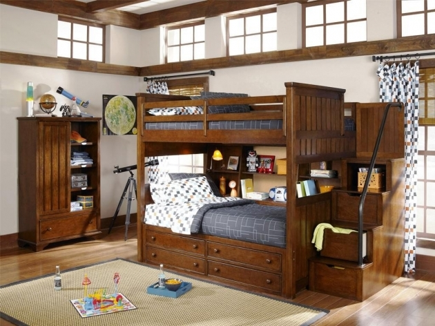 Twin Over Full Bunk Beds With Stairs Photos 91