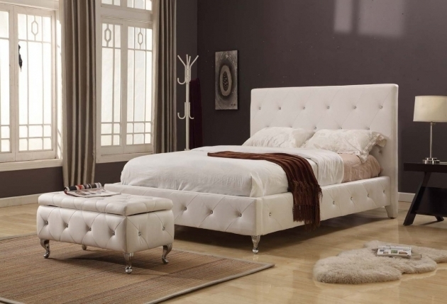 White Cheap Platform Bed Frame Queen Pictures 13