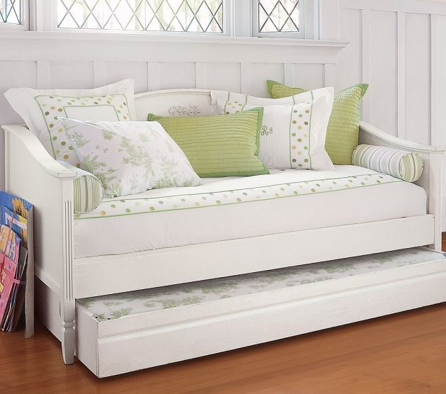 White Daybed With Trundle Bed Frame Childrens Images 42
